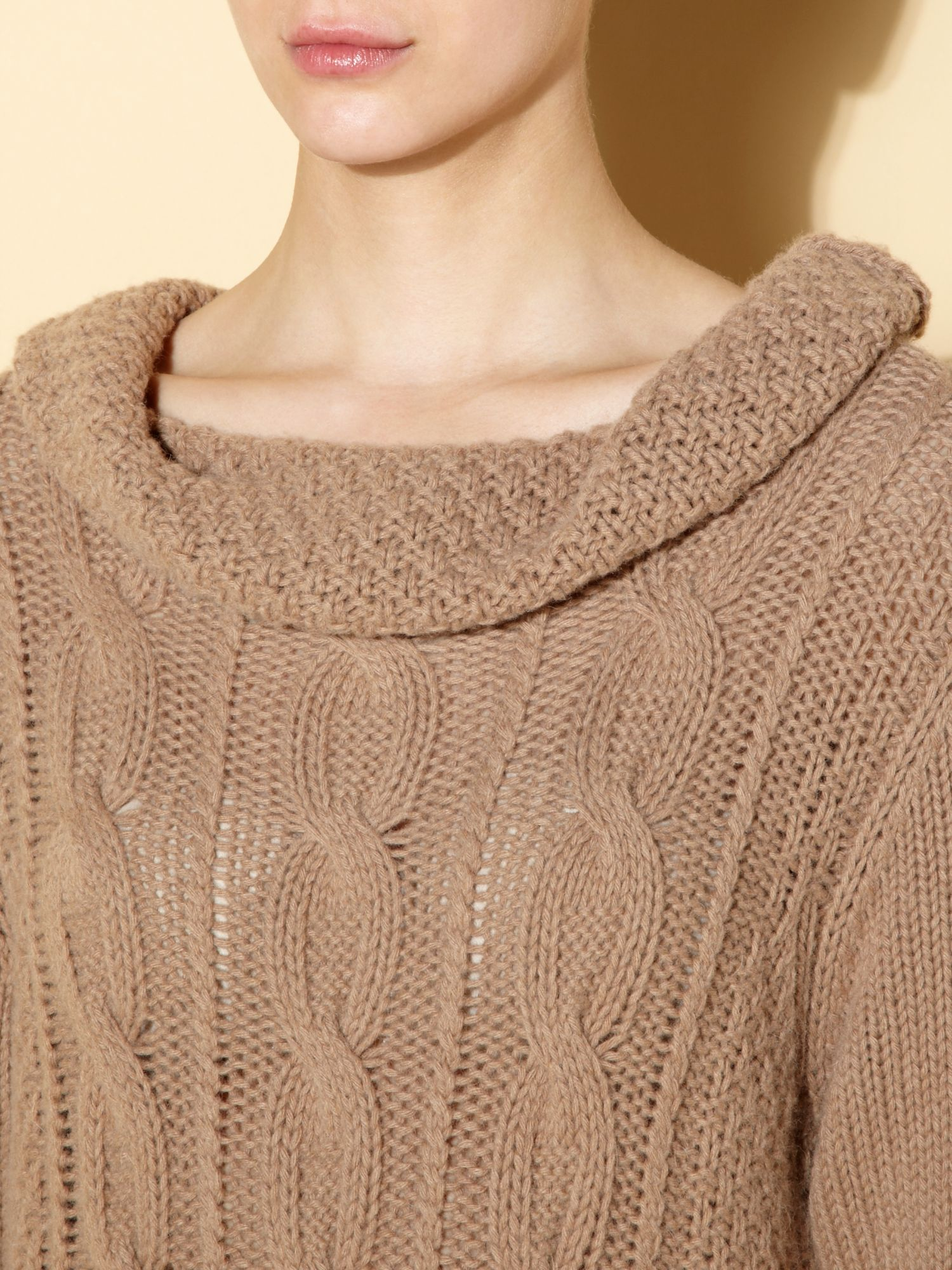 Atollo cable knit long jumper