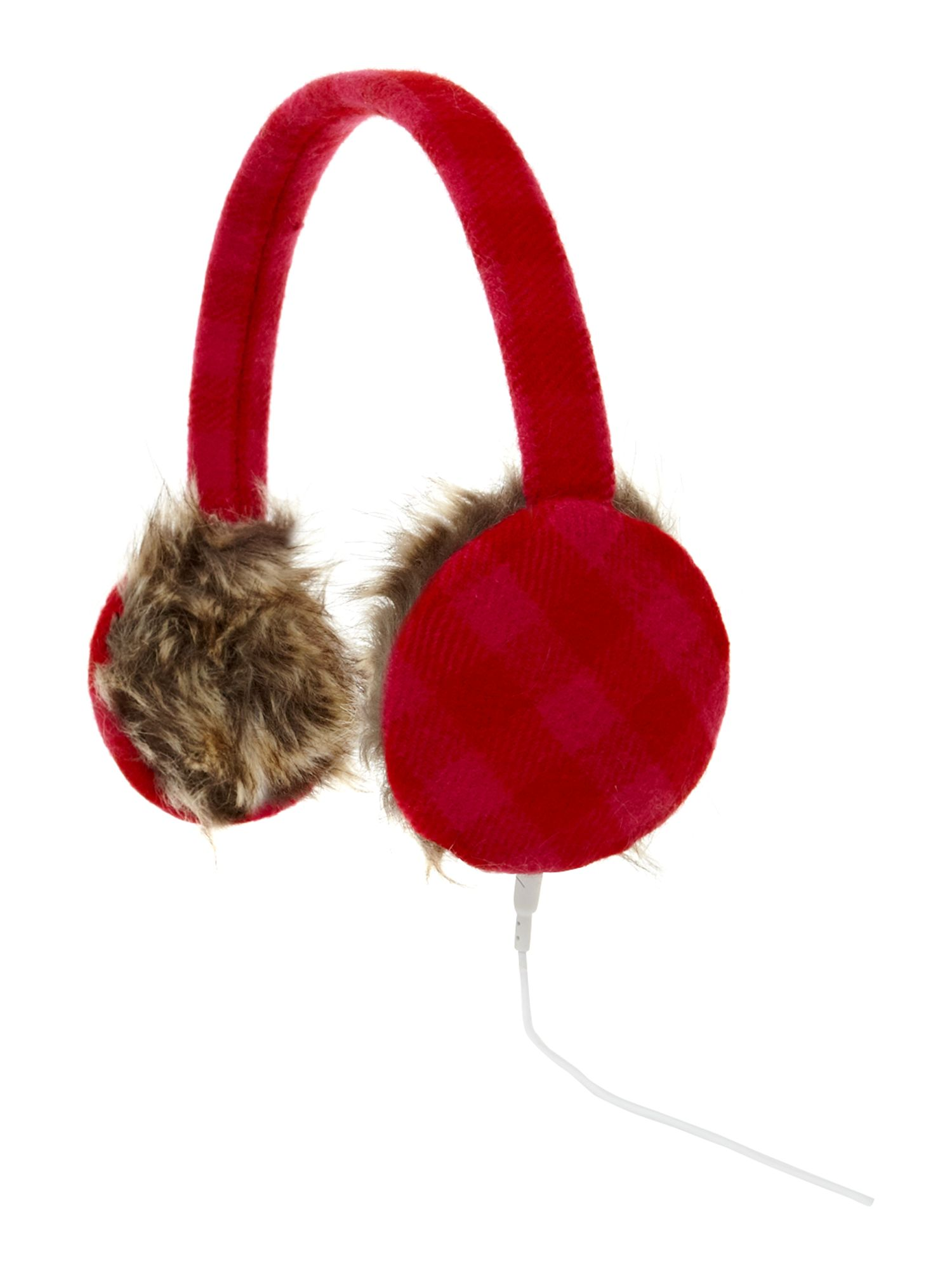 Bright checked headphones