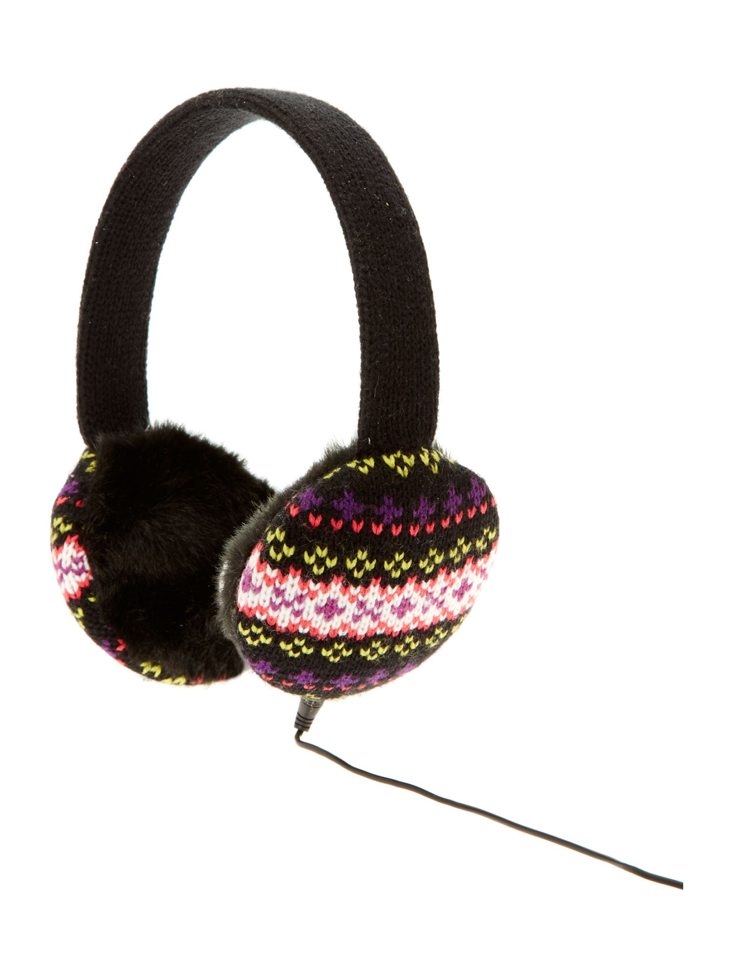 Fairisle knit headphones