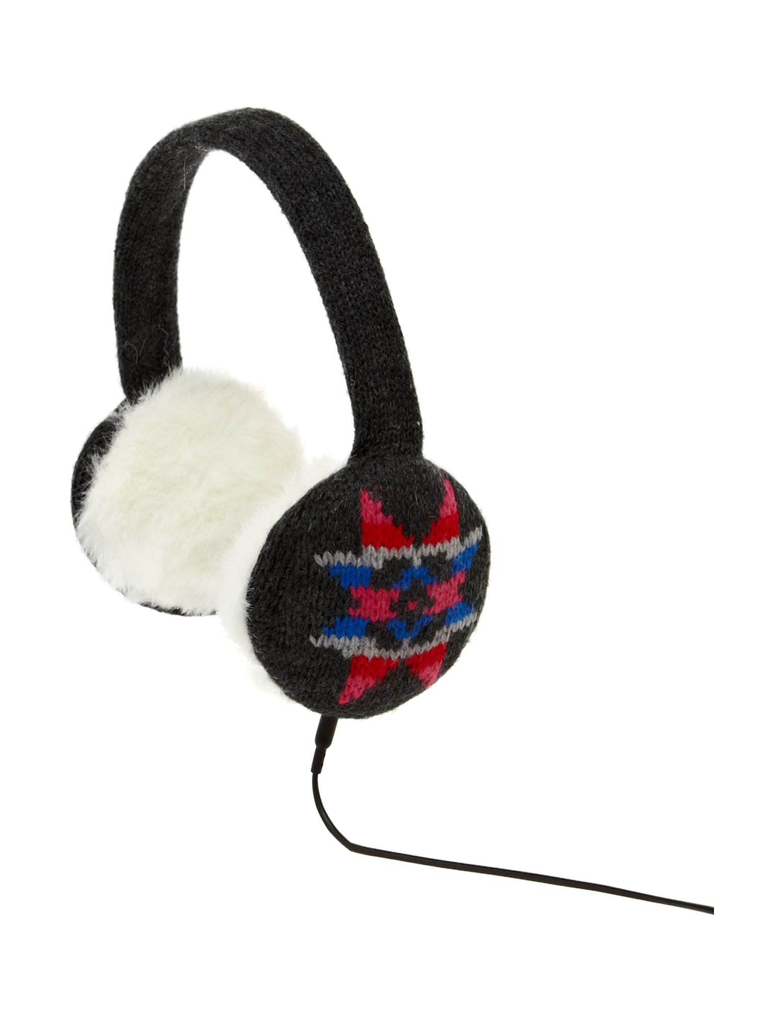 Snowflake knit headphones