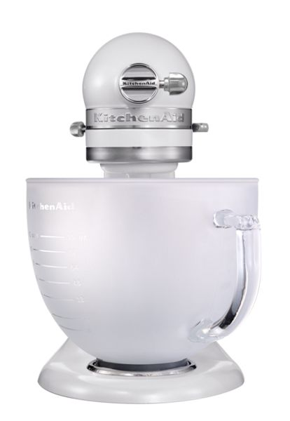 Frosted Pearl Artisan stand mixer 5KSM156BFP