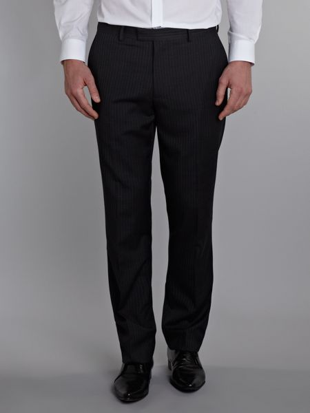 New & Lingwood Morris Charcoal Stripe Suit