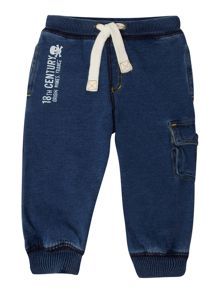 Denim style sweat pants