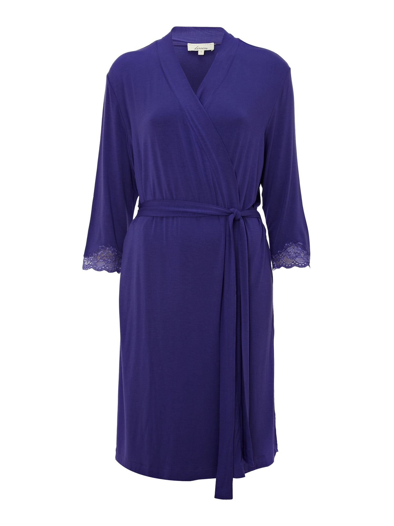 Jersey lace trim robe