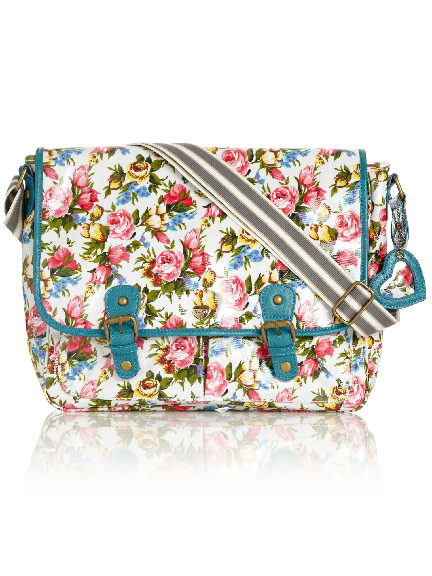 Yumi large floral satchel bag