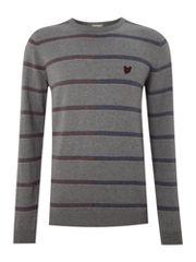 Lyle and Scott Crew neck stripe jumper
