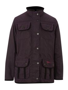 Girl`s four pocket waxed utility jacket