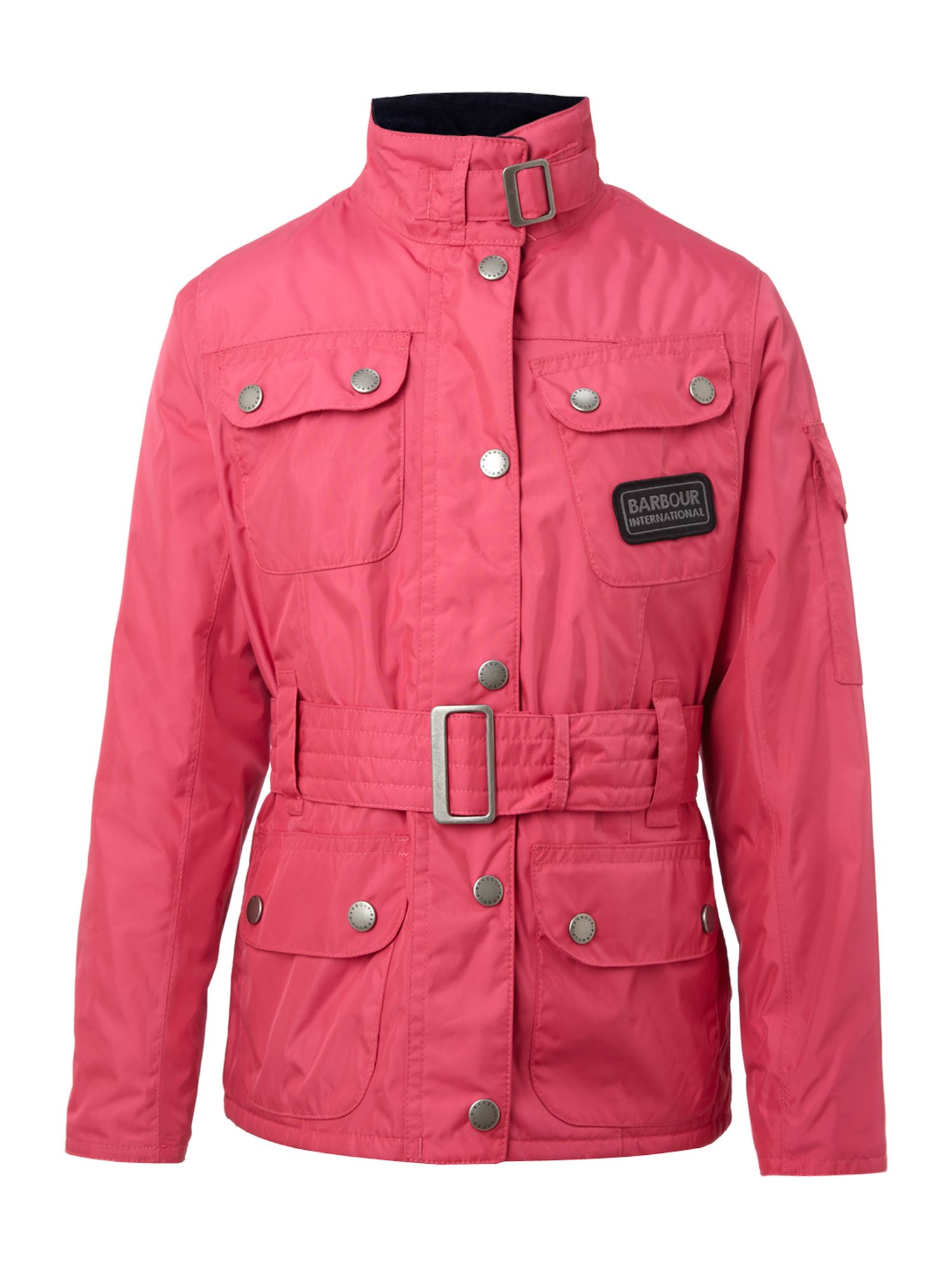 Girl`s nylon belted International jacket