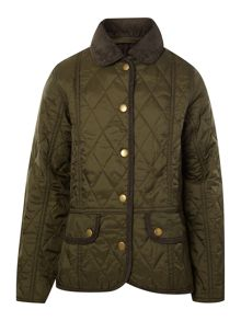 Girl`s Vintage Quilt Jacket with cord details