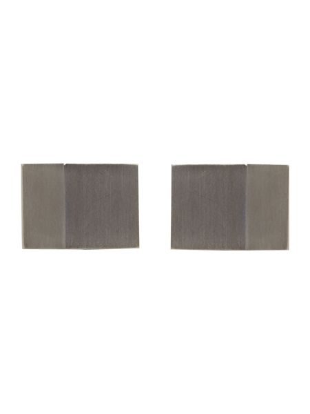 Howick Tailored Rhodium rectangle cufflinks