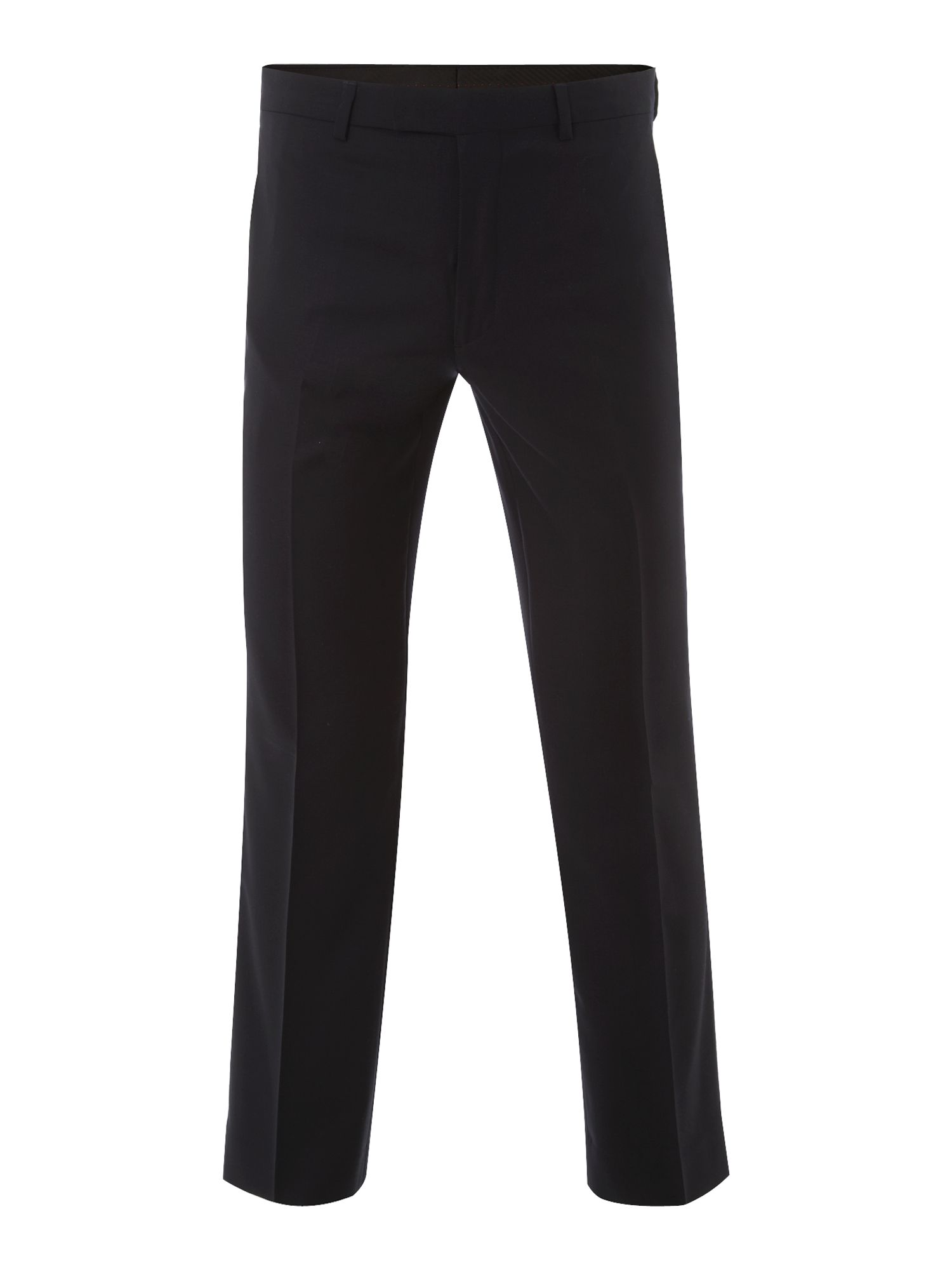 Wool twill flat front trouser