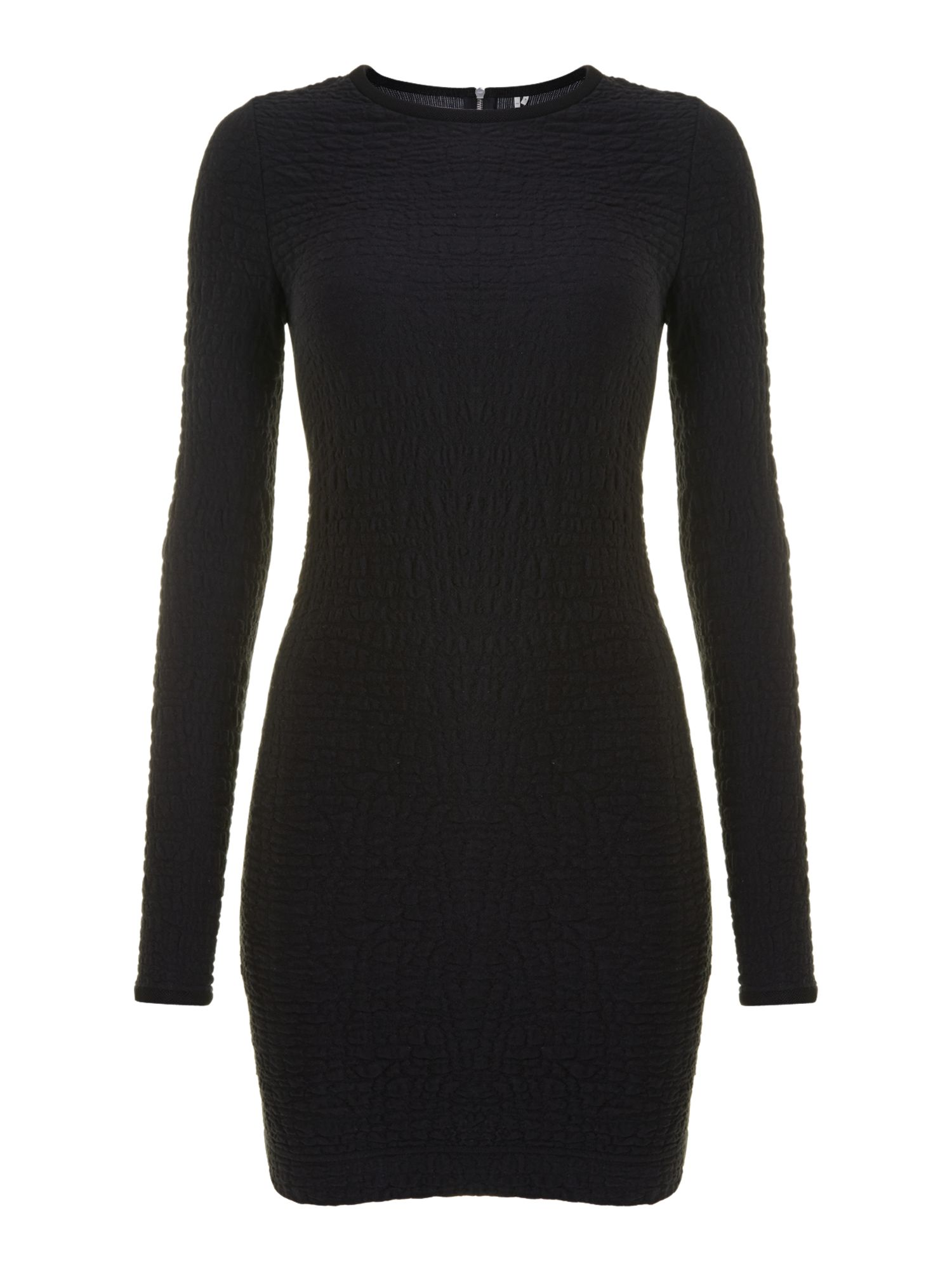 Knitted ripple effect dress