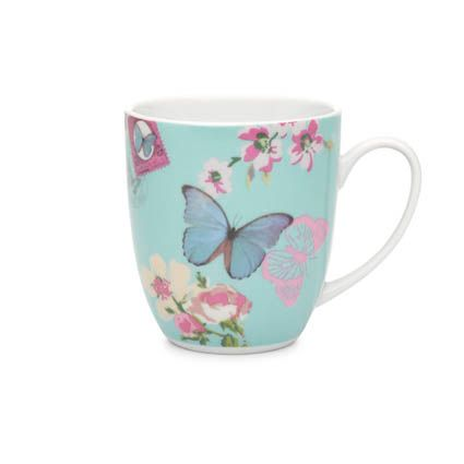 With Love mug blue