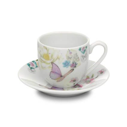 With Love espresso cup & saucer white
