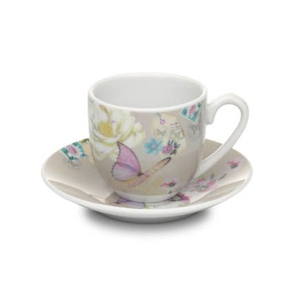 With Love espresso cup & saucer beige