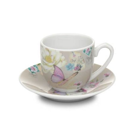 Accessorize With Love espresso cup & saucer beige
