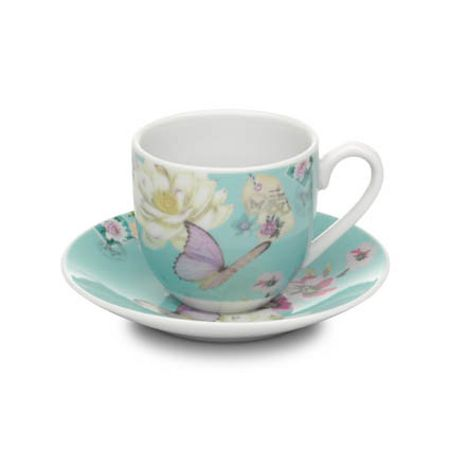 With Love espresso cup & saucer blue