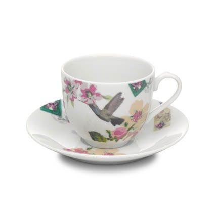 With Love cup & saucer white