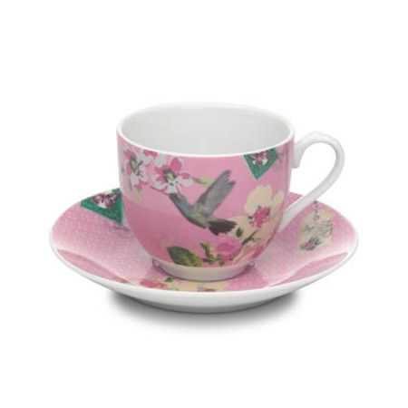 Accessorize With Love cup & saucer pink