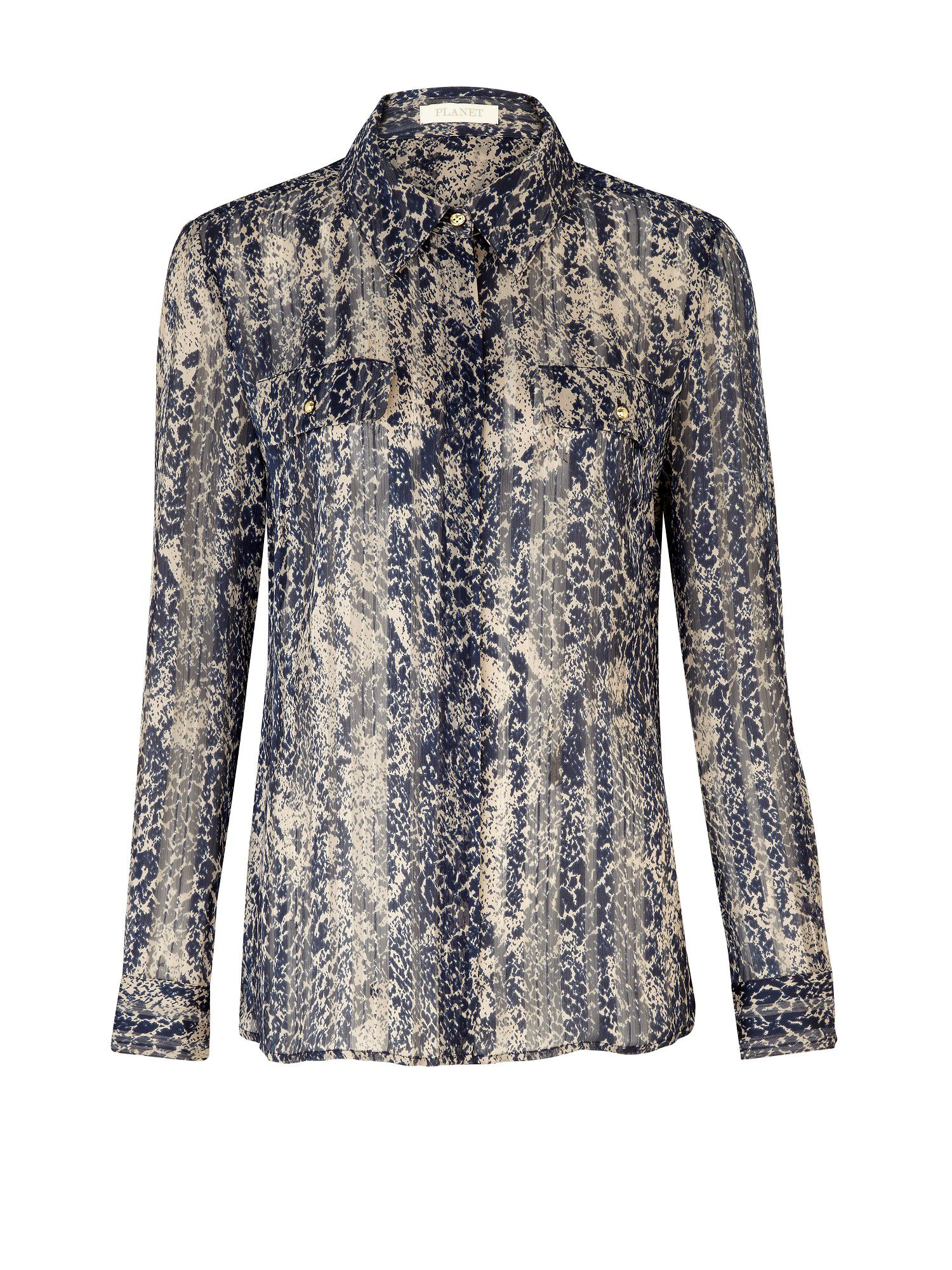 Planet Womens Planet Snake print utility blouse, product image