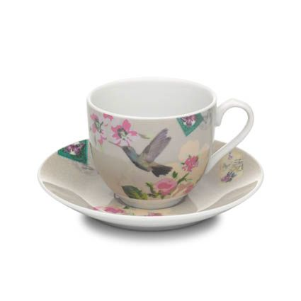 With Love cup & saucer beige