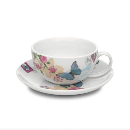 With Love cappucino cup & saucer white