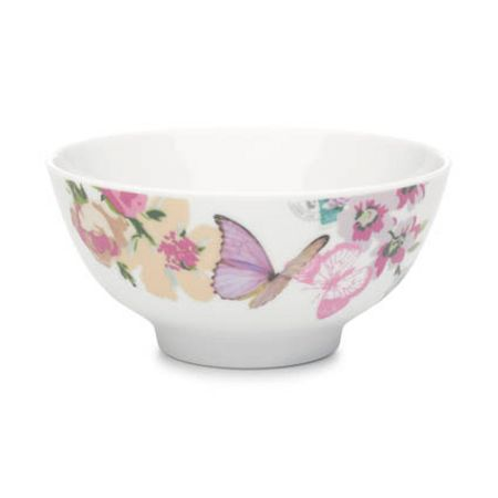 With Love butterfly bowl pink
