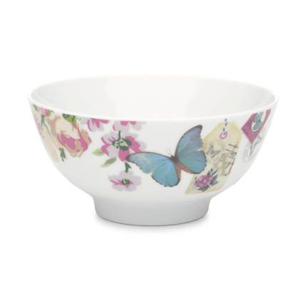 With Love butterfly bowl blue