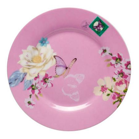 With Love cake plate pink