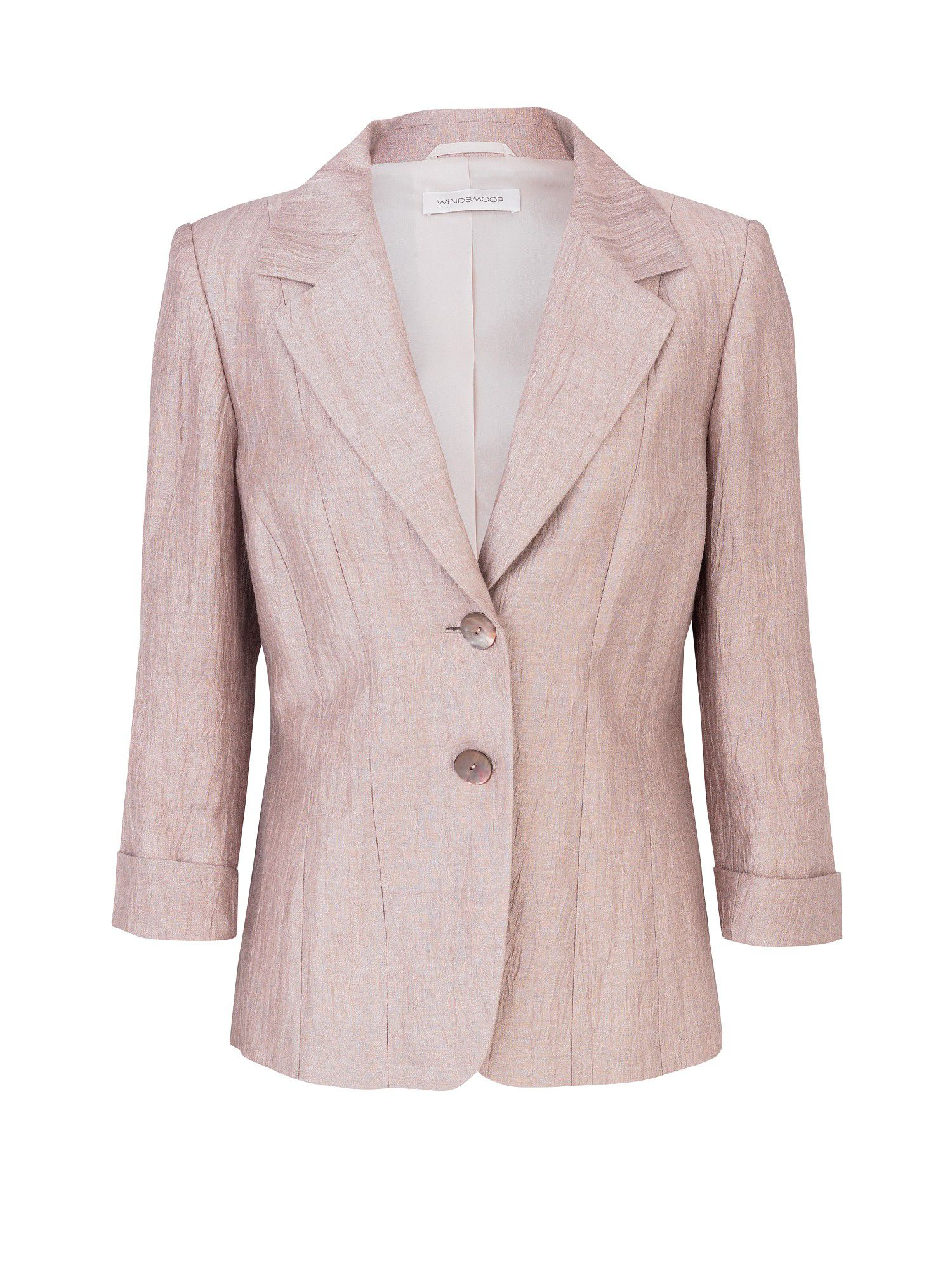 Blush crinkle jacket