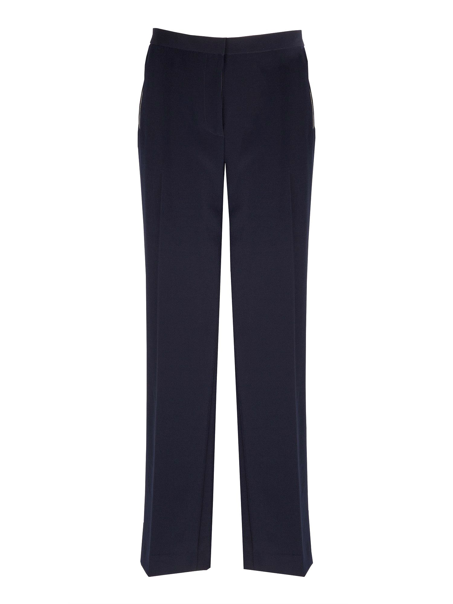 Navy zip detail trouser