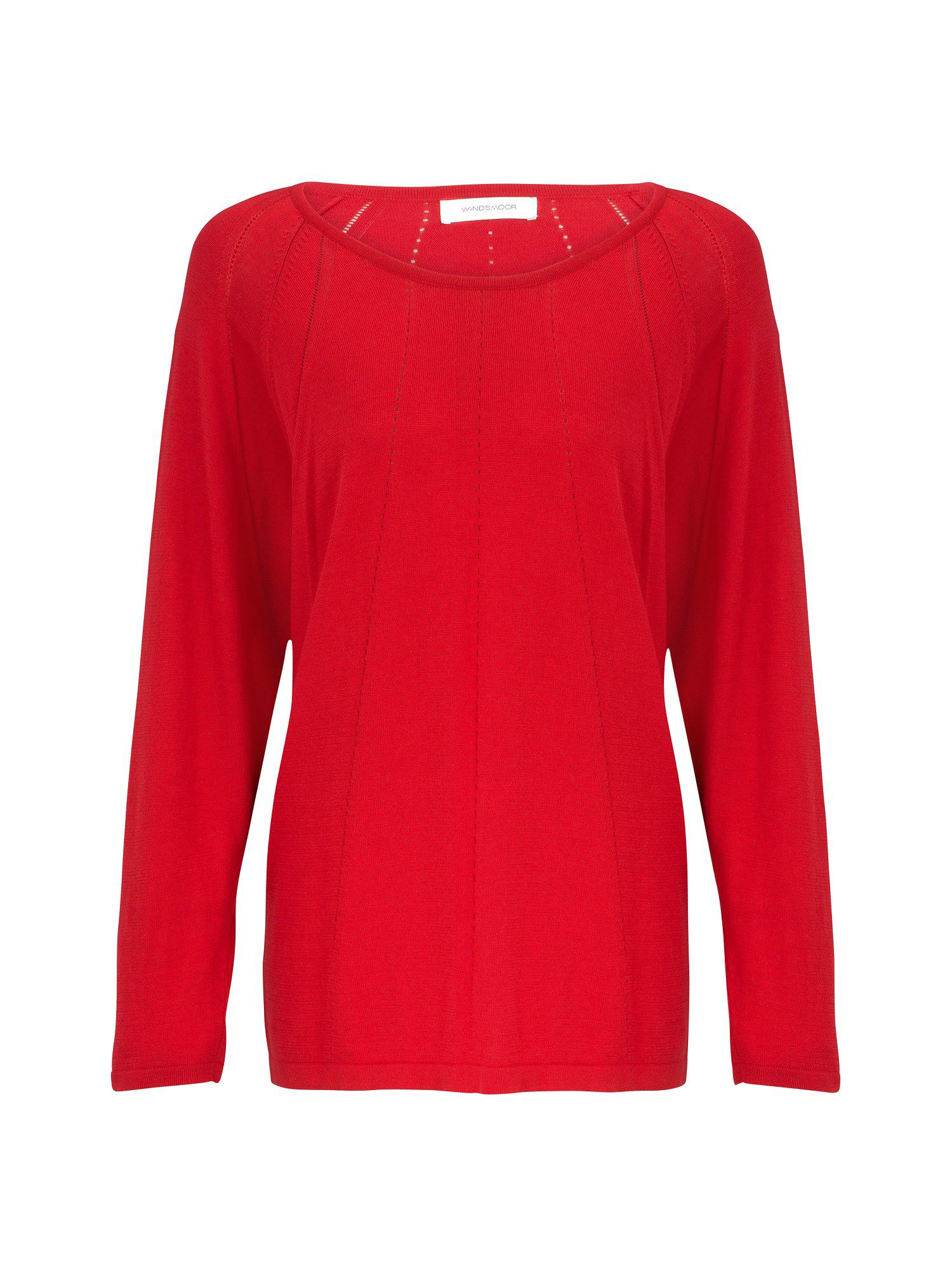 Rouge pointelle sweater