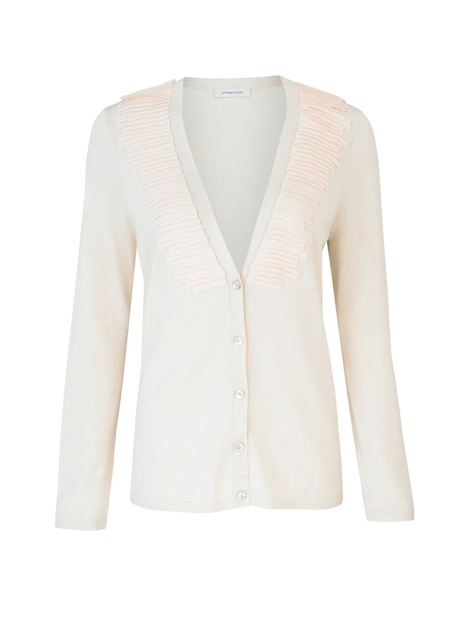 Cream chiffon trim cardigan
