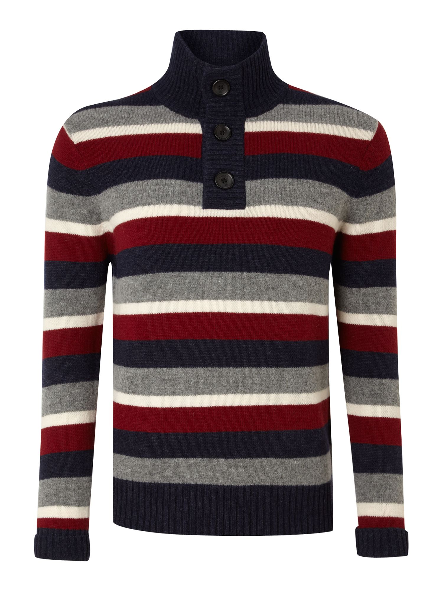 Storrow stripe funnel neck