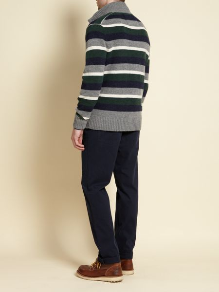 Howick Storrow stripe funnel neck