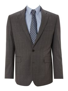 New & Lingwood Grey windowpane check nested suit