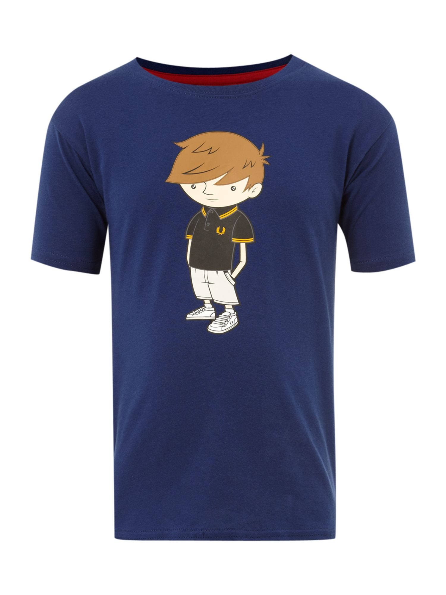 Fred Perry Short-sleeved graphic t-shirt, Blue product image