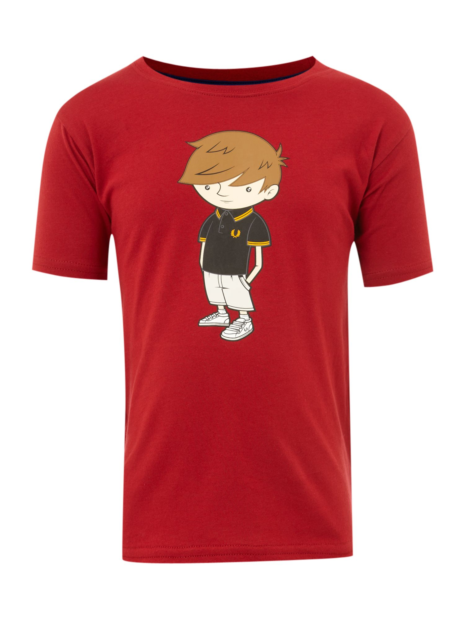 Fred Perry Short-sleeved graphic t-shirt, Red product image