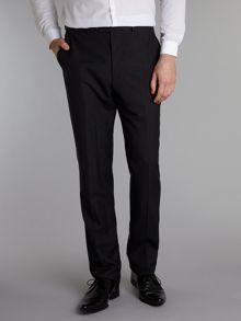 Floral slim fit plain wool suit trousers