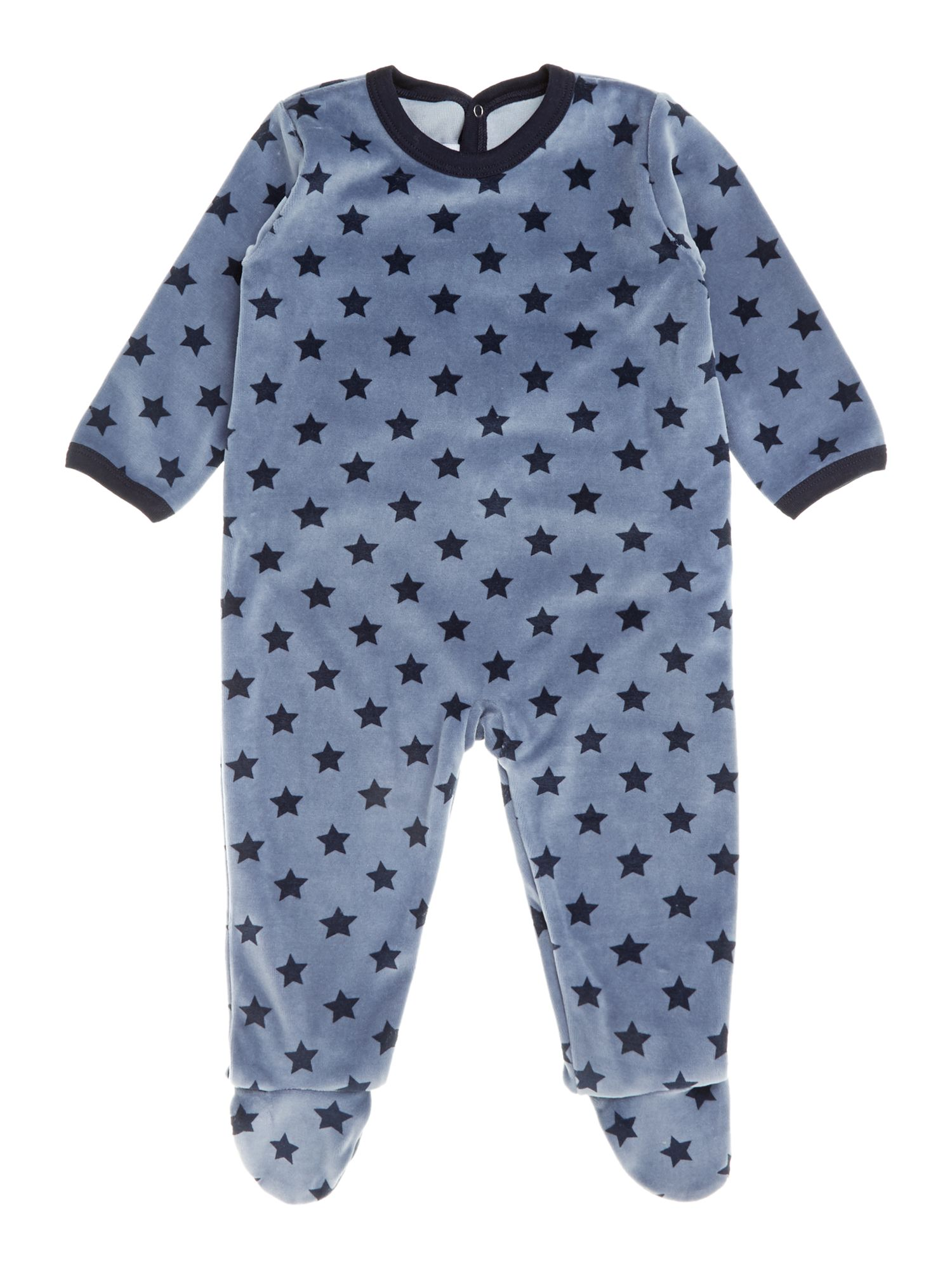 Baby boy back opening sleepsuit