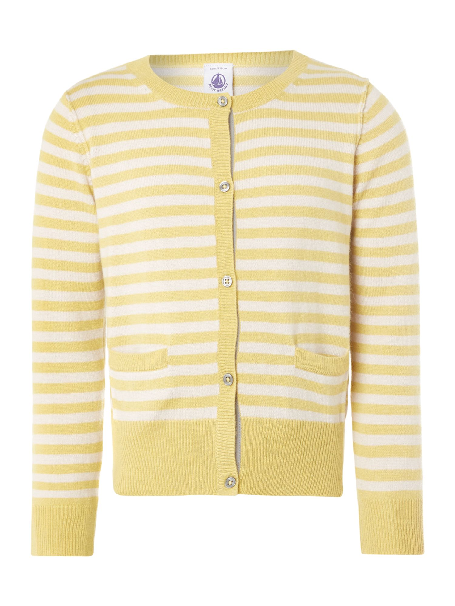 Girl`s striped buttoned cardigan