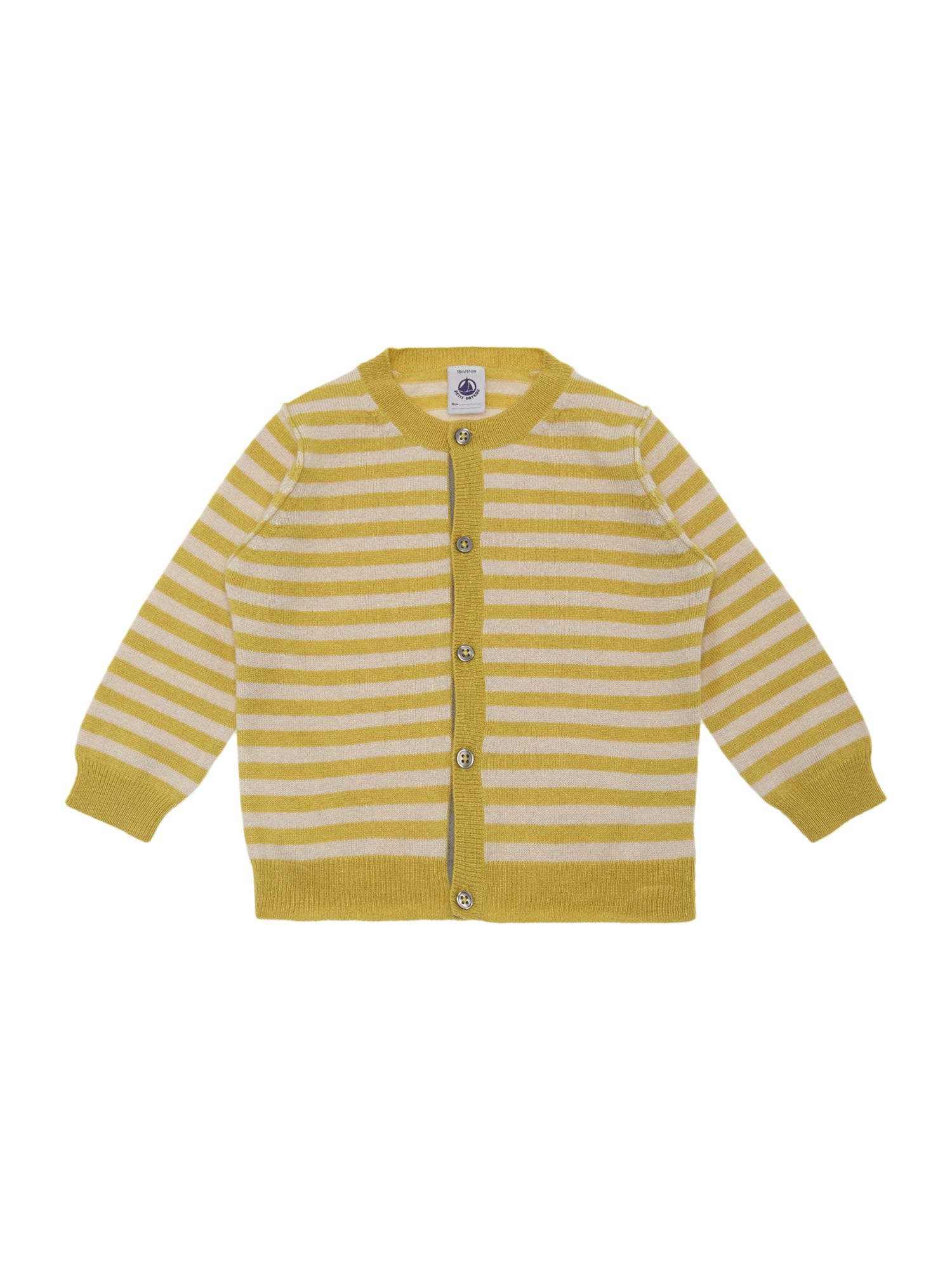 Unisex baby striped cardigan