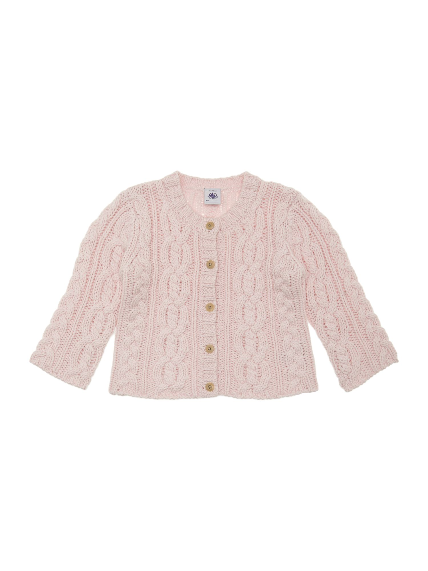 Baby girl wool and cotton cardigan