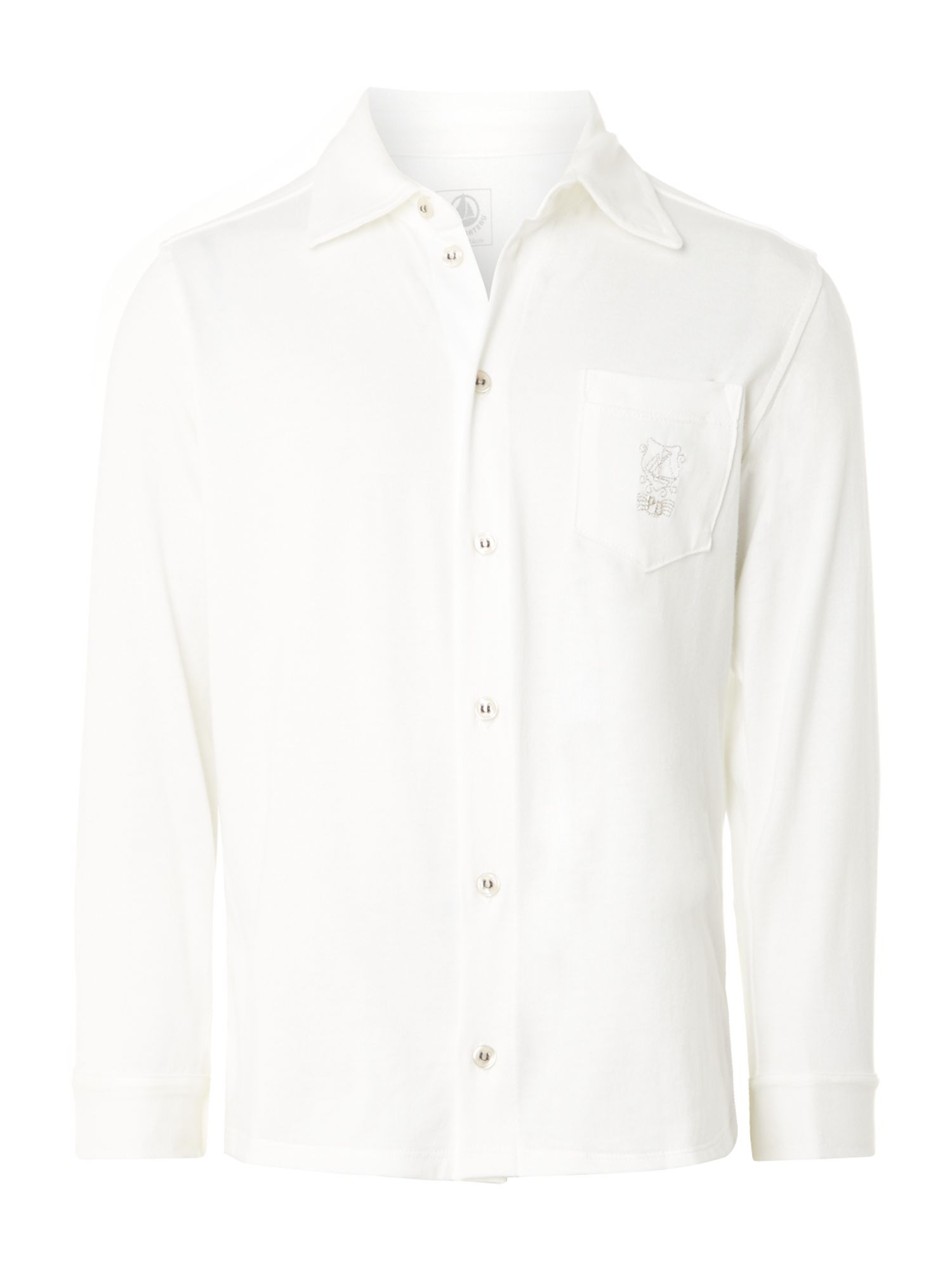 Boys cream light jersey shirt