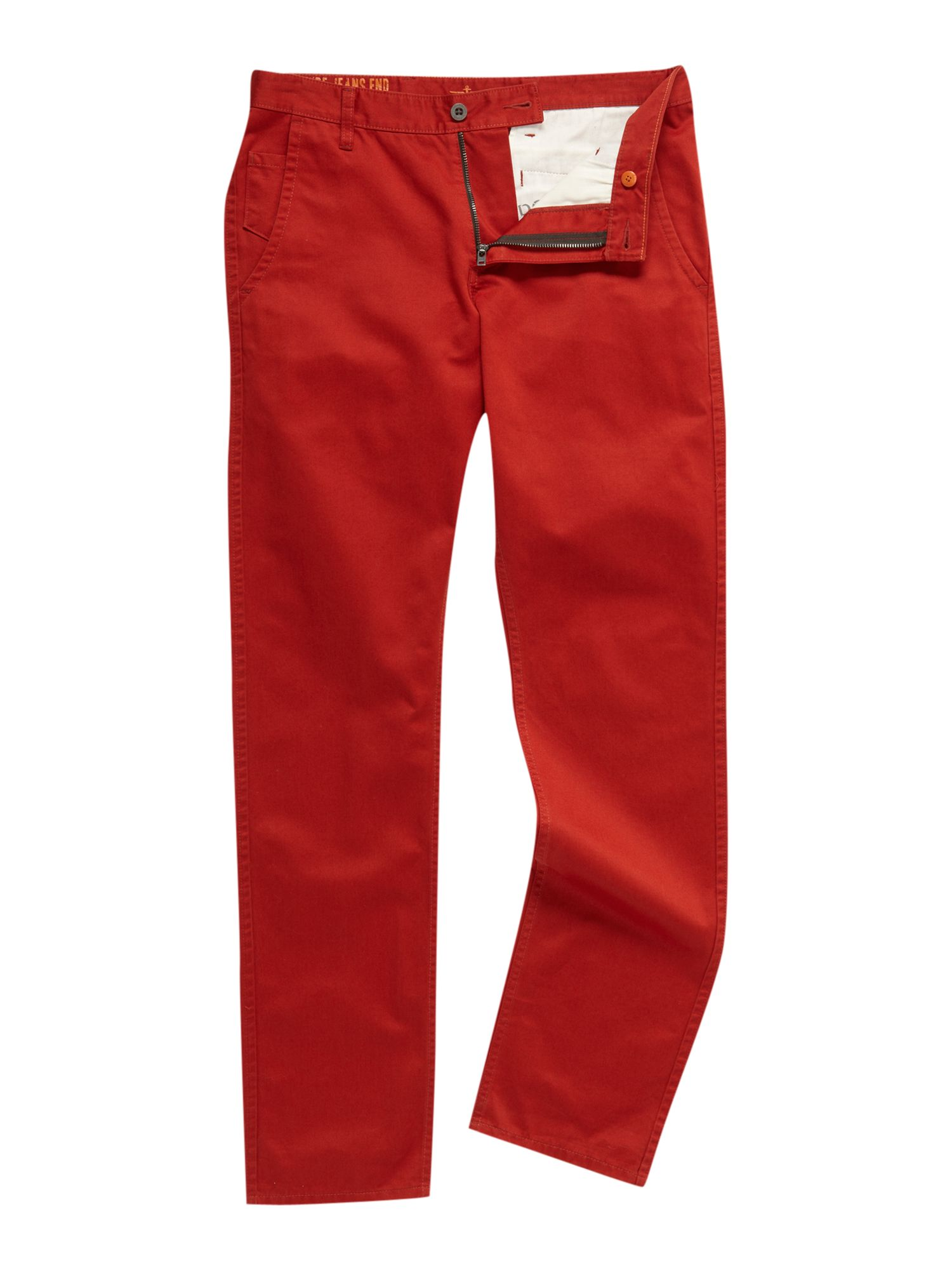Alpha khaki tapered straight fitted chino`s
