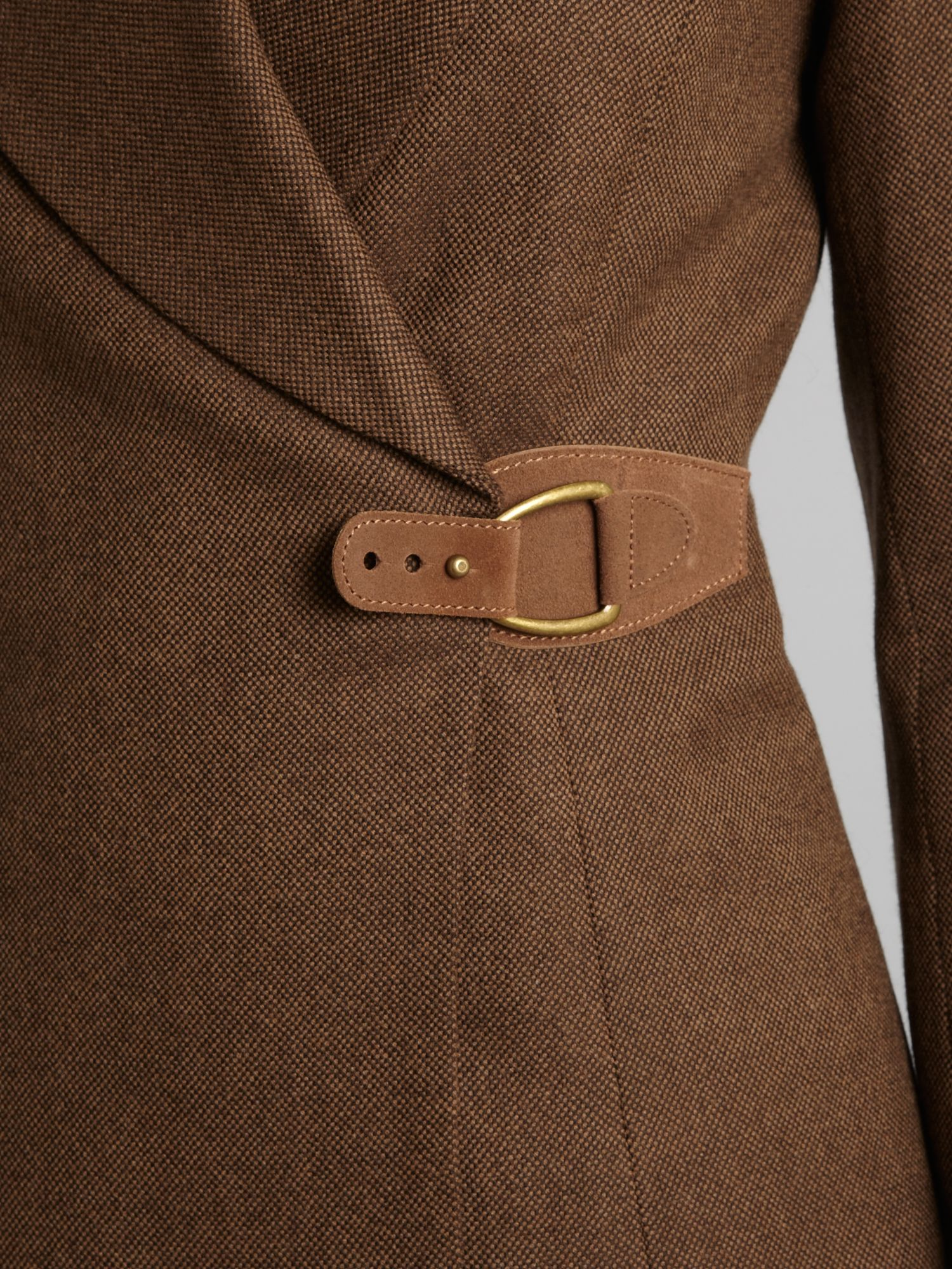 Tariq jacket with leather tie