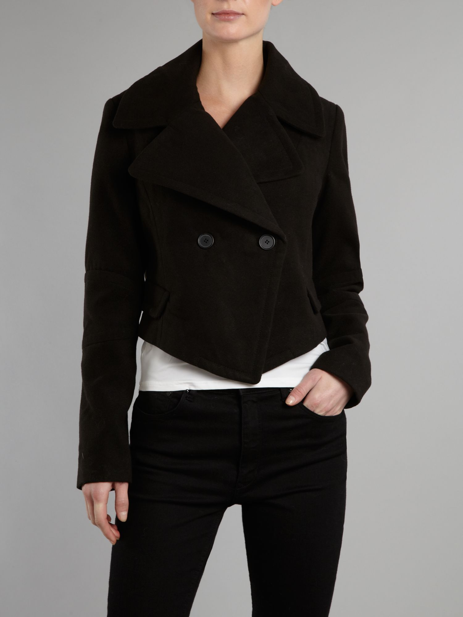 Cropped pea coat