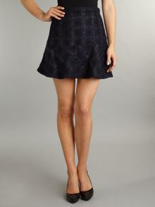 Kenneth Cole Houndstooth short flared skirt