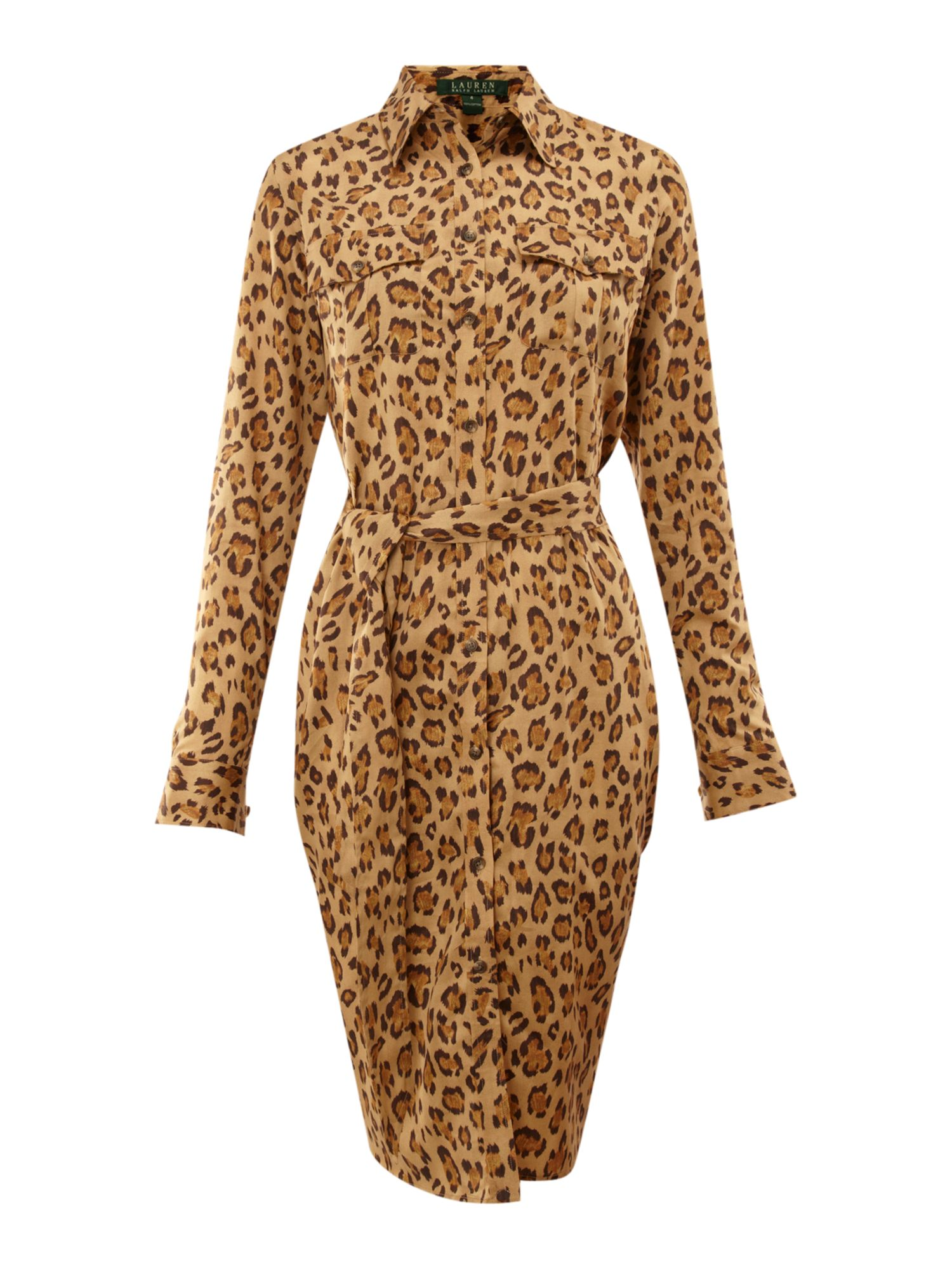 Ristea leopard print shirt dress