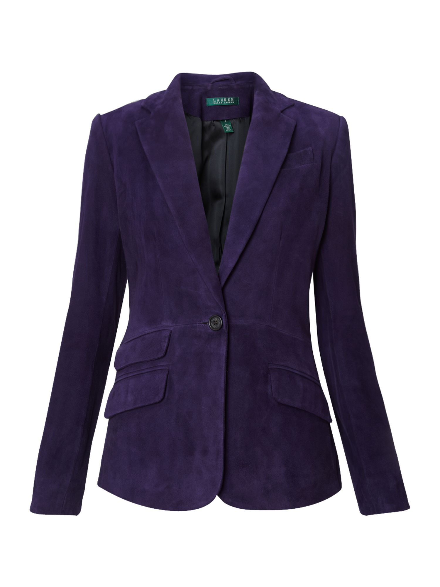 Women's Lauren by Ralph Lauren Valerine suede jacket, Dark Purple